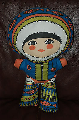 18in ESKIMO INUIT SOFT TOY DOLL