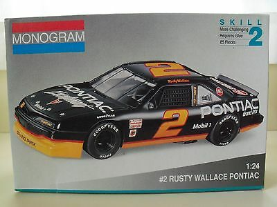 Monogram Rusty Wallace #2 Pontiac Grand Prix Nascar Stock Car Model Kit (Opened)