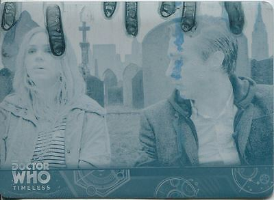 Doctor Who Timeless Cyan Printing Plate Base Card #85