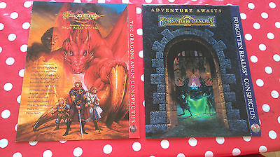Advanced Dungeons And Dragons  Conspectus/map Forgotten Realms & Dragonlance