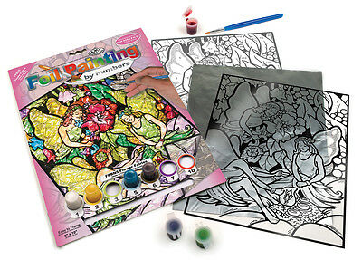 Flower Fairy Fairies Foil Painting Paint By Numbers Glass Art Craft Kit Fbpn5