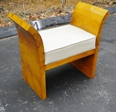 Elegant Art Deco inspired Maple Vanity stool