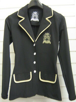 Chillout Ladies Show Jacket Ideal For Jumping Black With Gold Trim Clearance