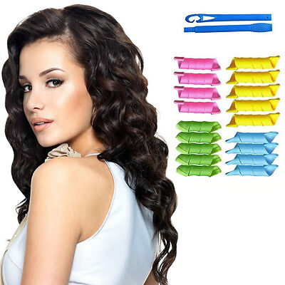 Magic Hair Curlers Rollers Styling Set Spiral Ringlet Hairband Tool