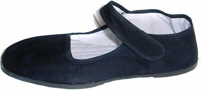 Discontinued Toddler/Girl's Black Cotton Mary Jane Shoes with Strap