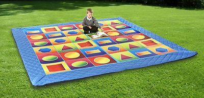 Safetots Luxury Handmade Play Mat Padded Playmat Child Play Geo Mat for Nursery