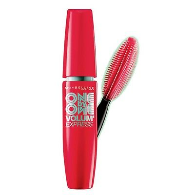 MAYBELLINE VOLUM EXPRESS ONE BY ONE MASCARA VERY BLACK  10.4ml NEW CARDED