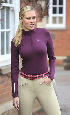Shires Beijing Base Layer Top Ladies Navy, Red, Plum (9930)