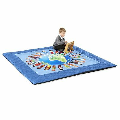 Safetots Luxury Handmade Play Mat Children of the World Padded Playmat Nursery