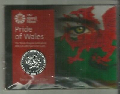 Pride Of Wales Dragon 2016 UK £20 Fine Silver coin new & sealed