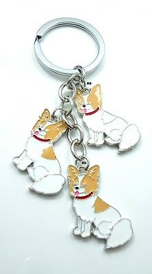 Papillon Lovers Key Chain or Purse Charm 3 Dog Charms