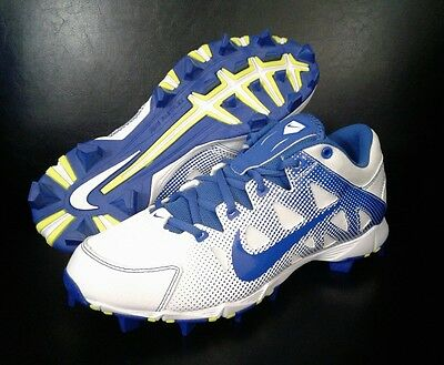 WOMEN'S NIKE HYPERDIAMOND KEYSTONE BLUE WHITE BASEBALL SOFTBALL CLEATS Shoes 8.5