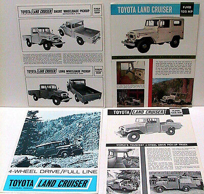 1960s Toyota Land Cruiser Brochures-Lot of 4