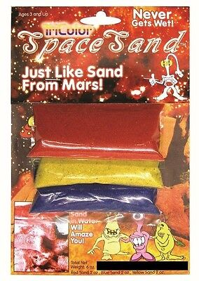 Tri-Color Space Sand Pack: 3 Packs of Hydrophobic Sand