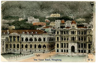 Hong Kong China - DES VOEUX ROAD - Handcolored Postcard Hongkong