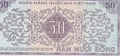 Vietnam Late 1960's AU 50 NAM MUOI DONG NGAN HANG QUOC GIA Note