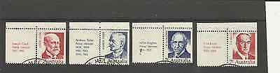 Sg505-8 Famous Australian Prime Ministers Fine Used Booklet Stamps With Tabs