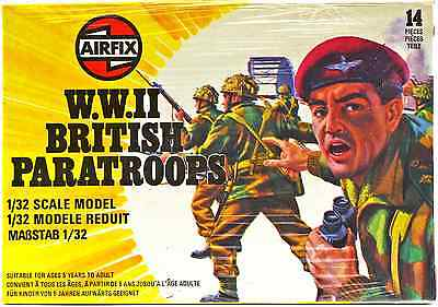 Airfix WWII British Paratroops #51550-8 - set of 14 figures mint in box