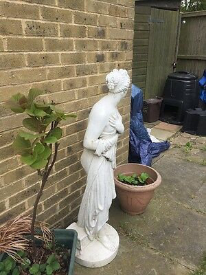 LARGE GARDEN Resin Stone Effect STATUE OF A ROMAN LADY - 4ft FOOT TALL.