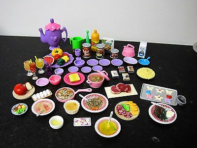Barbie *dishes, Food, Miniatures, Dollhouse, Kitchen Lot #aa7