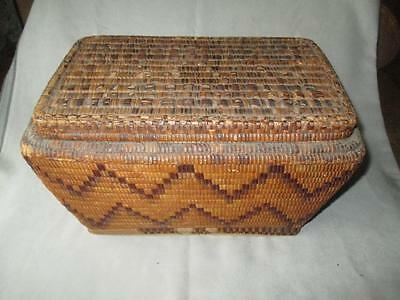 Antique Imbricated Thompson River / Lillooit Covered Basket
