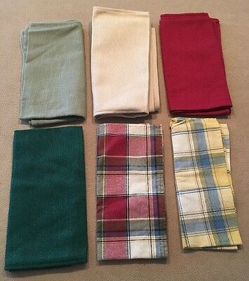 Longaberger Napkins Lot of 6 Different Colors -Very Good