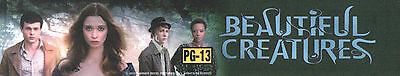 BEAUTIFUL CREATURES Movie Theater Box Office Mylar Home Media Game Teen Room