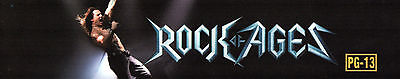 ROCK OF AGES Movie Theater Box Office Mylar Home Game Room Man Cave TOM CRUISE