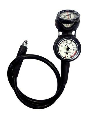 Oceanic Swiv 2 Scuba Diving Depth Gauge Console with Compass and Pressure Gauge