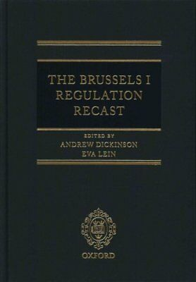 The Brussels I Regulation Recast by Professor Andrew Dickinson 9780198714286