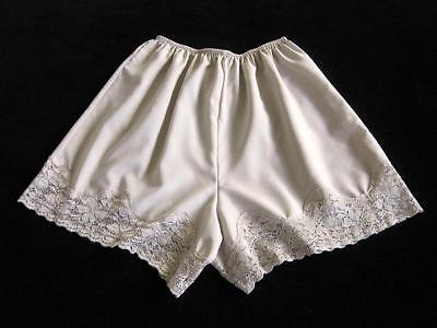 Vintage Soft Satin French Knickers Silky Lace S NEW Lucie Ann II Beige/Taupe