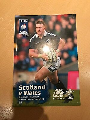 Scotland vs Wales. 2017 Six Nations. match programme. 25th February 2017