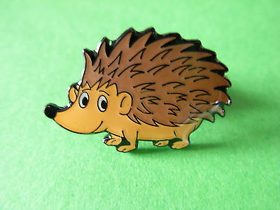 Hedgehog collectable pin badge. V1 Spikey. Lapel badge