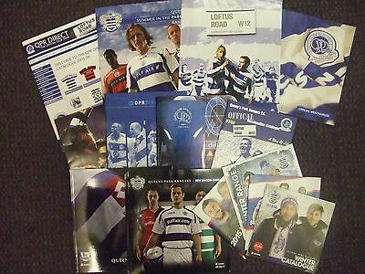 x14 QPR FC: 1998-2012: MERCHANDISE/CLUB SHOP BROCHURE CATALOGUES: LOOK !!!
