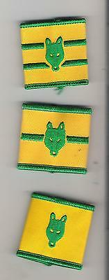Scouts Canada - lot of 3 Cub Epaulets  Sixer Seconder