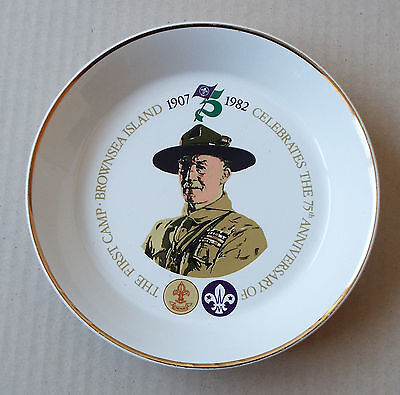 Brownsea Island 75th Anniversary Scouting Commemorative Dish