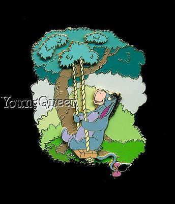 Disney Auctions Winnie the Pooh's Friend Eeyore Swinging in Tree Jumbo Le Pin