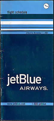 Jetblue Airways Us Aviation Timetable 2001