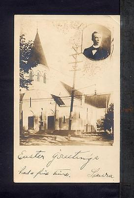 1907 Everett MA UNIVERSALIST CHURCH Real Photo Postcard RPPC