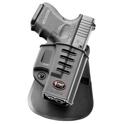 Fobus GL26ND Evolution Paddle Holder Black Polymer RH For Glock 26/27/33 Holster