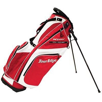 Tour Edge Golf UBAHISB07 Hot Launch 2 Stand Bags White Red