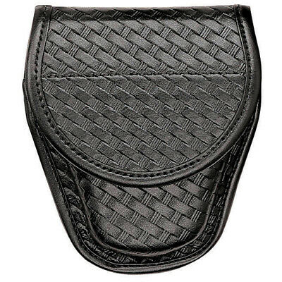 Bianchi 22063 Black Elite Basketweave AccuMold 7900 Covered Handcuff Case