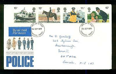 UK GREAT BRITAIN: Post Office First Day Cover POLICE 1979