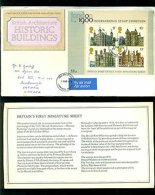 UK GREAT BRITAIN: Post Office First Day Cover MINIATURE SHEET 1978