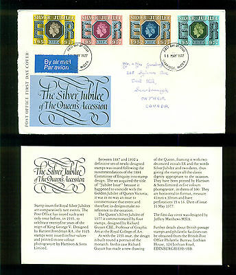 UK GREAT BRITAIN: Post Office First Day Cover THE SILVER JUBILEE 1977