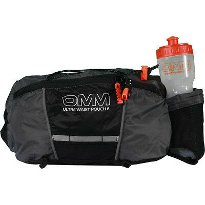 Omm Ultra Waist Pouch Unisex Bag Bumbag - Grey Black One Size