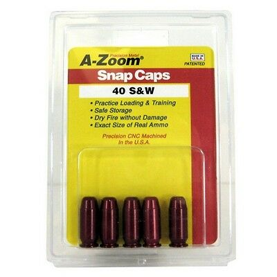 A-Zoom 15118 Pistol Metal 5 Pack Snap Caps for Caliber 45 Fits Glock