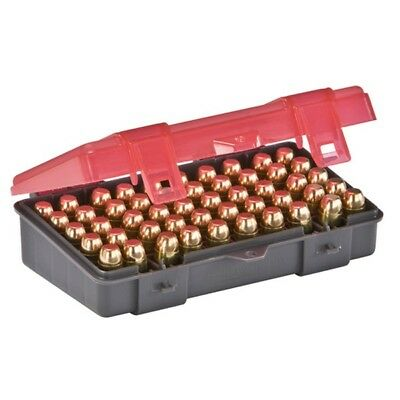 Plano 1227-50 50 Round Ammo Case Charcoal Rose Hard .45 ACP .40 S&W 10mm