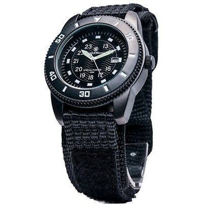 Smith & Wesson SWW-5982 Wesson Commando Watch Black Face Luminous Markers Black