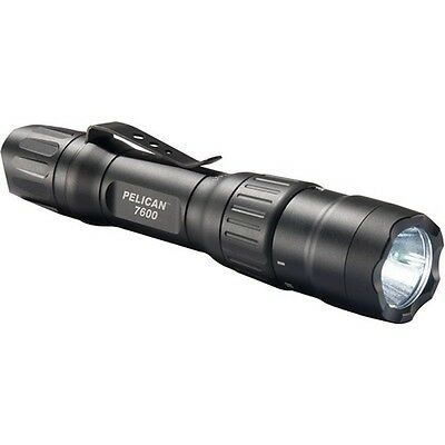 Pelican 076000-0000-110 Tactical 3-Color LED Rechargeable Flashlight Black